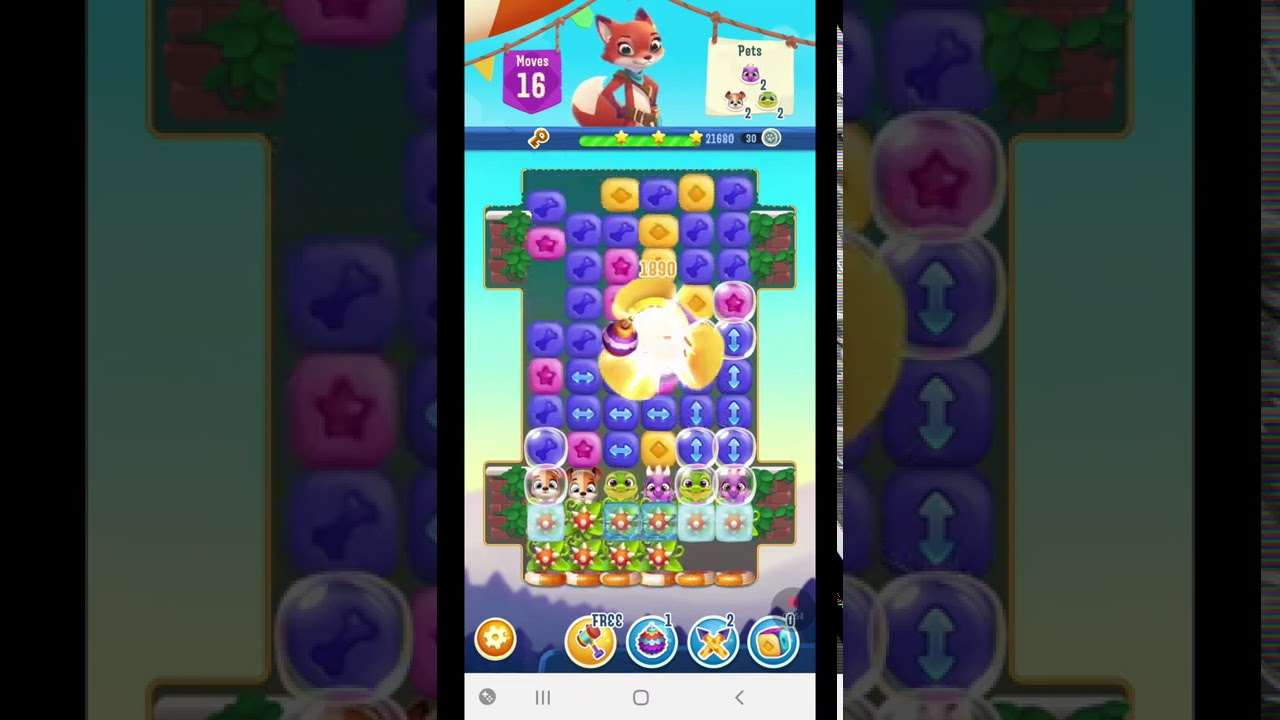 Pet Rescue Puzzle Saga Level 885 ~ No Boosters