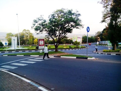 clean beautiful STREETS  of KIGALI, RWANDA.... REALLY spotless