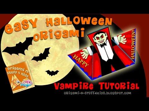 Halloween Vampire Origami