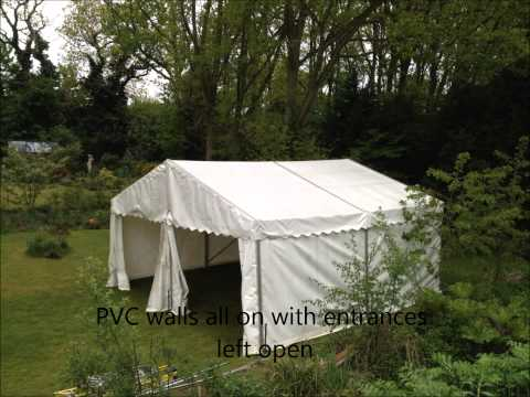 A Simple 6m x 6m Marquee for a Garden Party