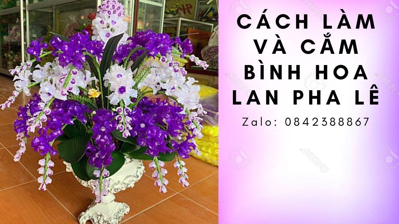 Cách làm bình hoa lan đá pha lê nghệ thuật   DIY flowers   Hoa pha lê   Thanh Hằng HandMade