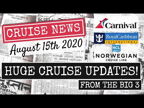 CRUISE NEWS AUGUST 15 | Royal Caribbean, NCL, Carnival, Plus Cruising Returns To Europe! | 4K