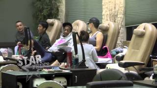 Wiz Khalifa and fiance Amber Rose get their nails done, then head to Target for some shopping in LA.