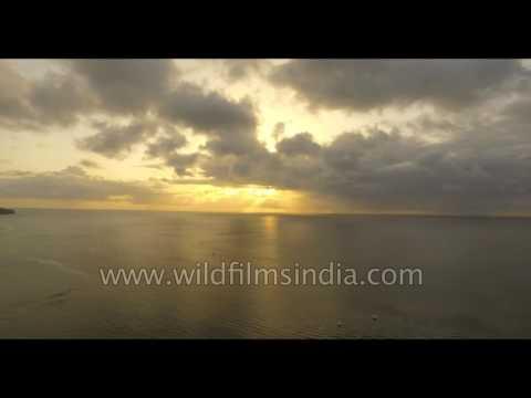 Sun set at St Lucia