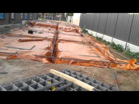 Building new house - footings with steel reinforcement rods and mesh