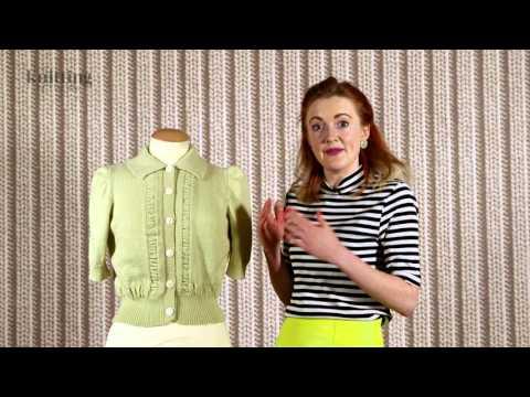 Vintage Short Sleeved Cardigan Knitting Pattern (The Knitting Network WLD038)