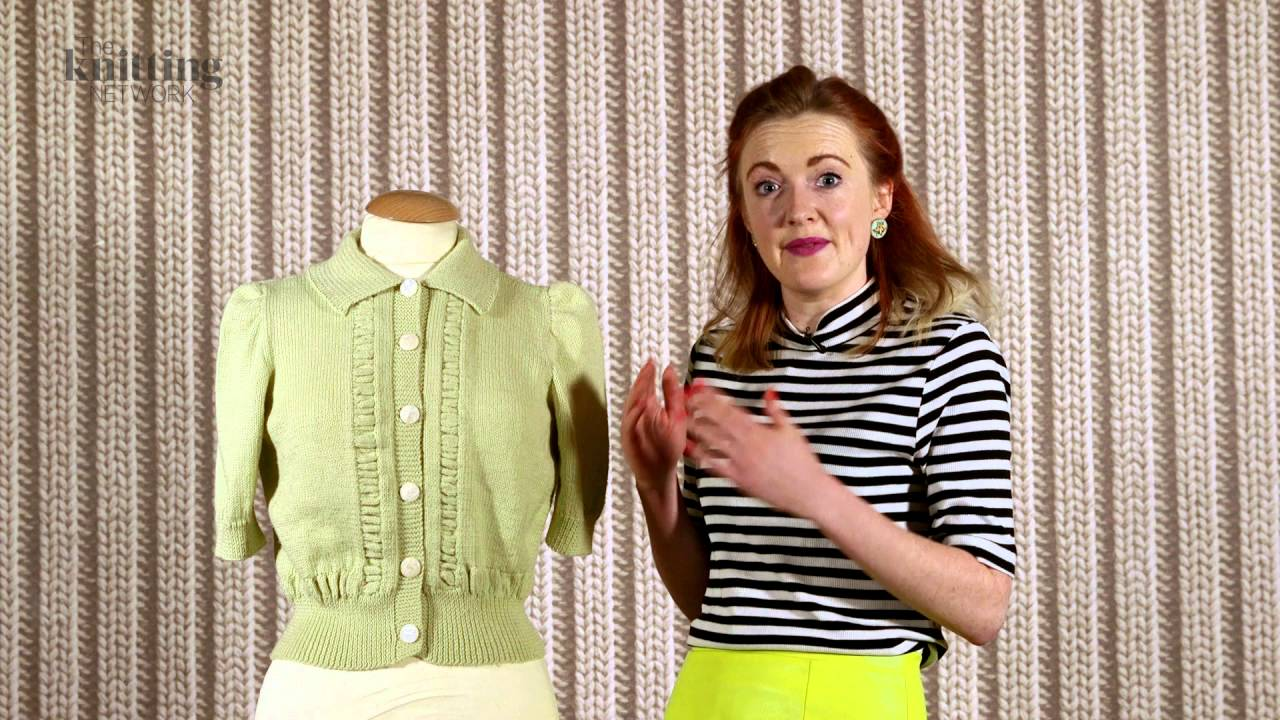 Vintage Short Sleeved Cardigan Knitting Pattern (The Knitting ...