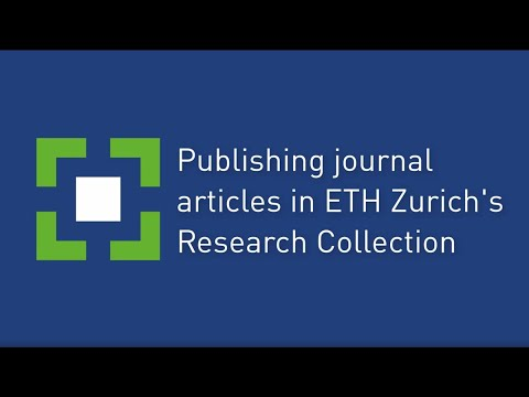 Publishing journal articles in ETH Zurich's Research Collection