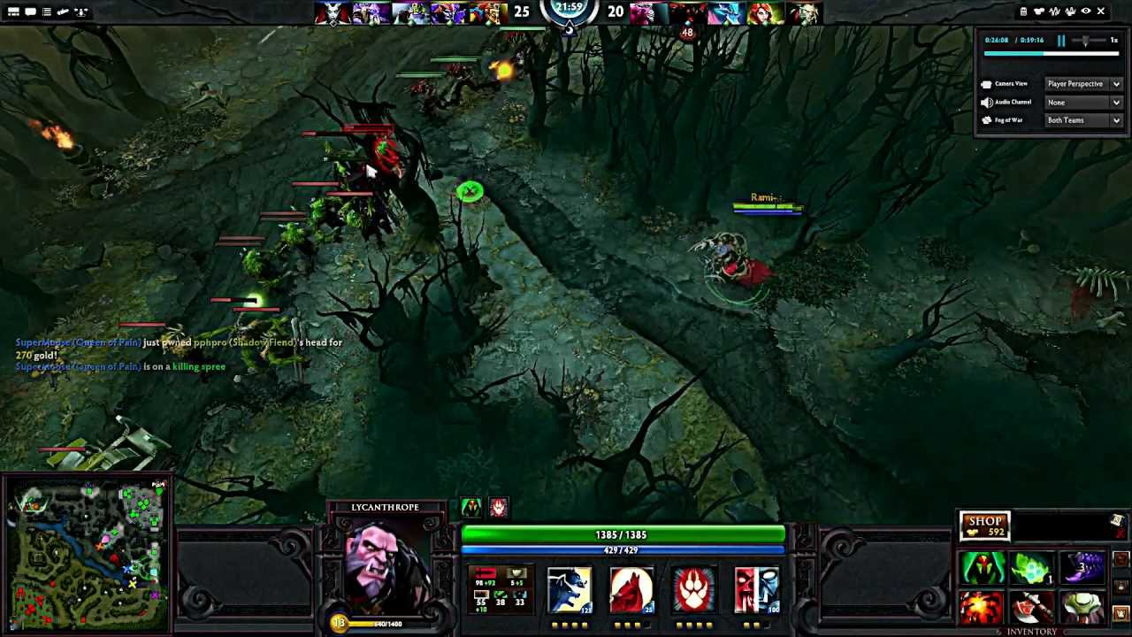 dota 2 lycanthrope gameplay youtube