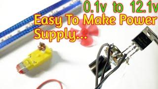 How To Make Voltage Regulator | Adjustable Voltage Regulator Use Mosfet