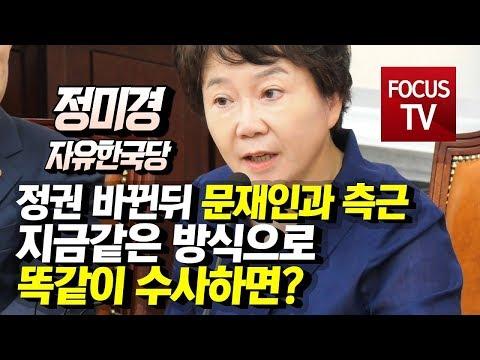 """자유한국당 정미경, """"정권이"""