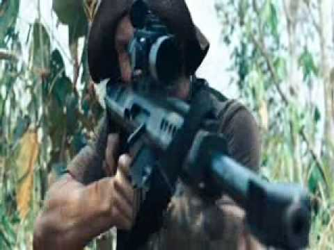 rambo gun fight scene
