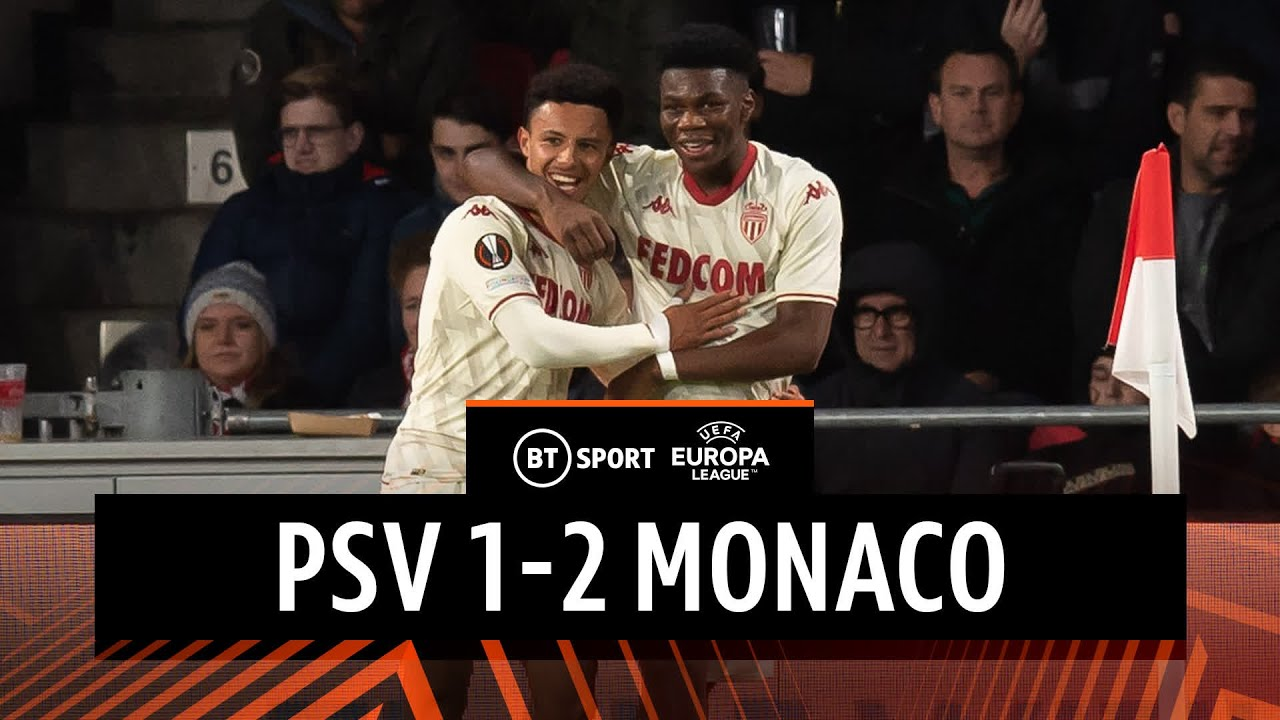 PSV vs Monaco (1-2) | Diop strikes late winner for the Monégasques | Europa League Highlights