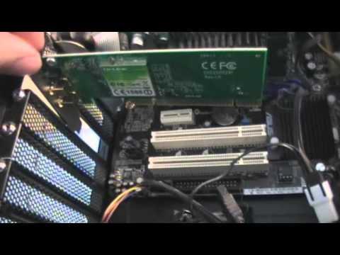 Unboxing af netværkskort - 300 mbps, PCI, WI-FI