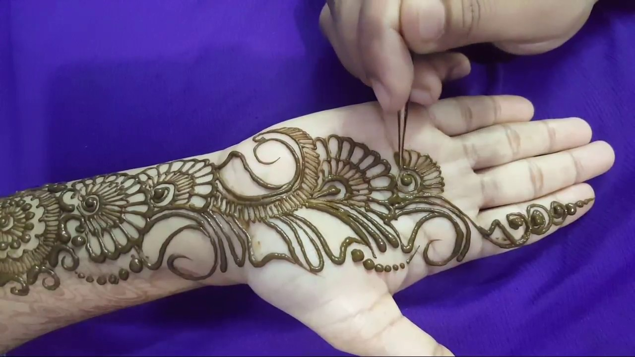Latest Stylish Arabic Beautiful Henna Designs For Hands Easy Unique Mehndi Art Tutorial 10