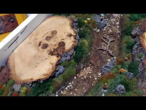 Diorama live edge river scene coffee table, work in progress