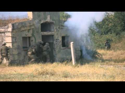 Georgian army and USA marines military exercises