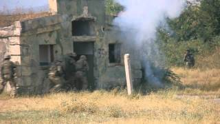 Georgian army and USA marines military exercises