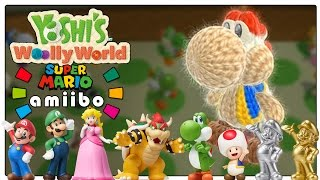 Yoshi's Woolly World - All Super Mario Series Amiibo Yoshi Costumes! Full Detail In 1080p!