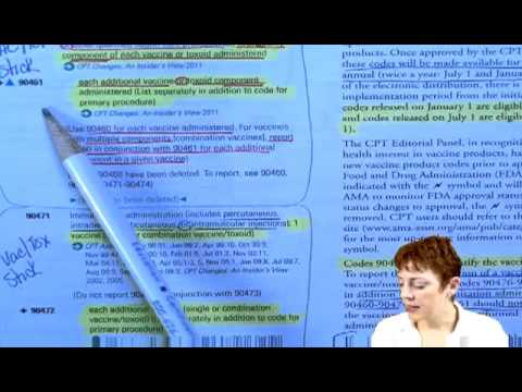 Basic Medical Coding Tutorial — Coding Vaccines and Administration