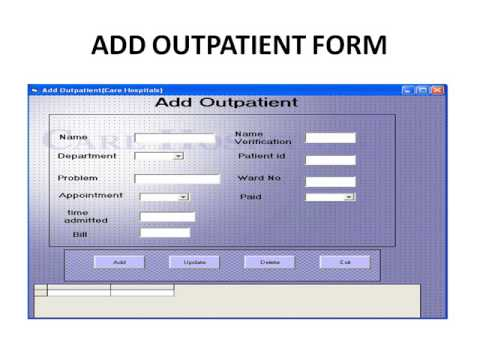hospital management system project in java - YouTube