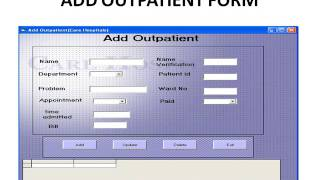 hospital management system project in java