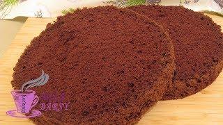 Необычный шоколадный бисквит БЕЗ ДУХОВКИ | Невероятно нежно | Chocolate biscuit without oven