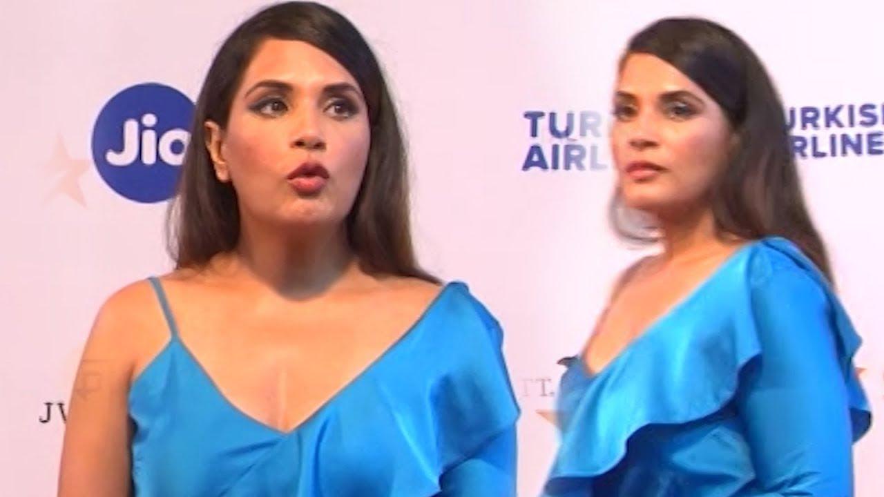 Richa Chadda Hot Blue Top & Black Skirt At Mami Movie Mela