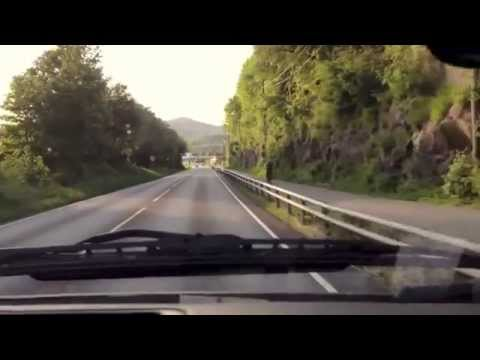 The road from Bergen-Manger, Norway. 45 minute drive.