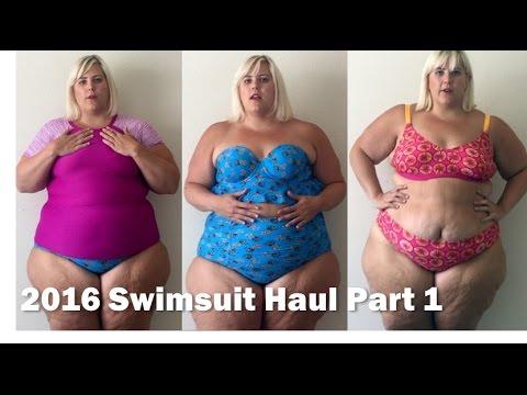 872bfc919ad Plus Size Fashion Swimsuit + Bikini Haul 2016  Part 1 - YouTube