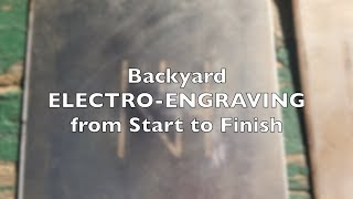 Electro-Etching Metal - How to use DC to etch metal & AC to mark metal