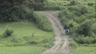 Tanners quad track 8-2-09 - Tim on Mikes pocket rocket