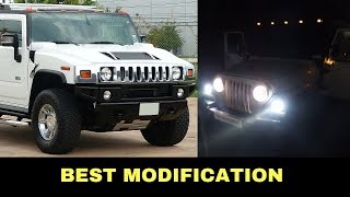 White Thar converted Into Hummer H2 | Best Modification😍