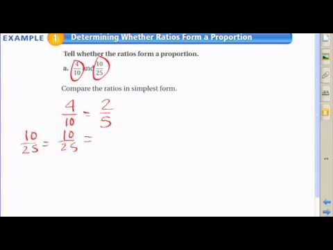 Determining Whether Ratios Form a Proportion - YouTube