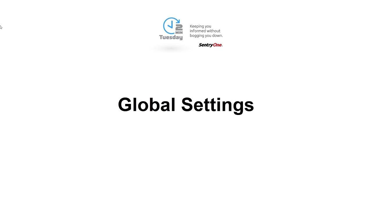 Monitoring Service Settings | SentryOne