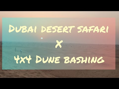 Dubai Desert Safari with 4×4 Dune Bashing