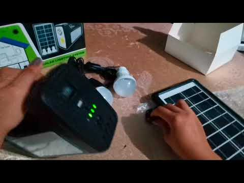 Solar Lighting System (with Solar Panel) | Unboxing