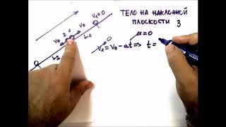 Физика. Динамика .Движение тела по наклонной плоскости 3