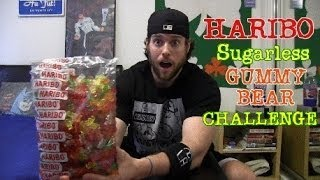 Haribo Sugarless Gummy Bear Challenge Warning Intestinal Exorcism Guaranteed Youtube