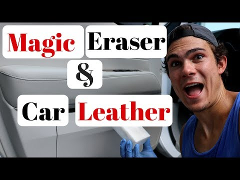 magic eraser on car leather youtube. Black Bedroom Furniture Sets. Home Design Ideas