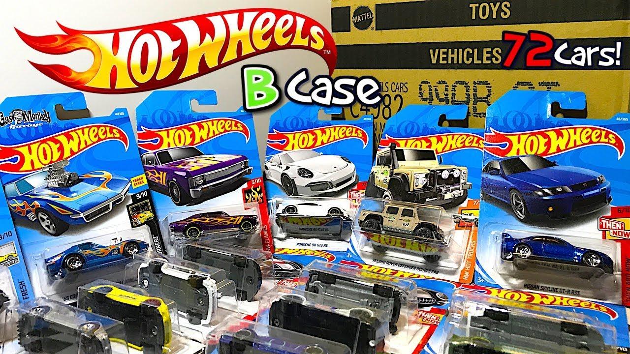 unboxing hot wheels 2018 b case 72 car assortment youtube. Black Bedroom Furniture Sets. Home Design Ideas