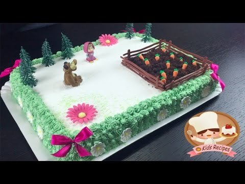 MASHA AND BEAR BIRTHDAY CAKE For Baby Special Cake KidsEasy Recipes PARTY