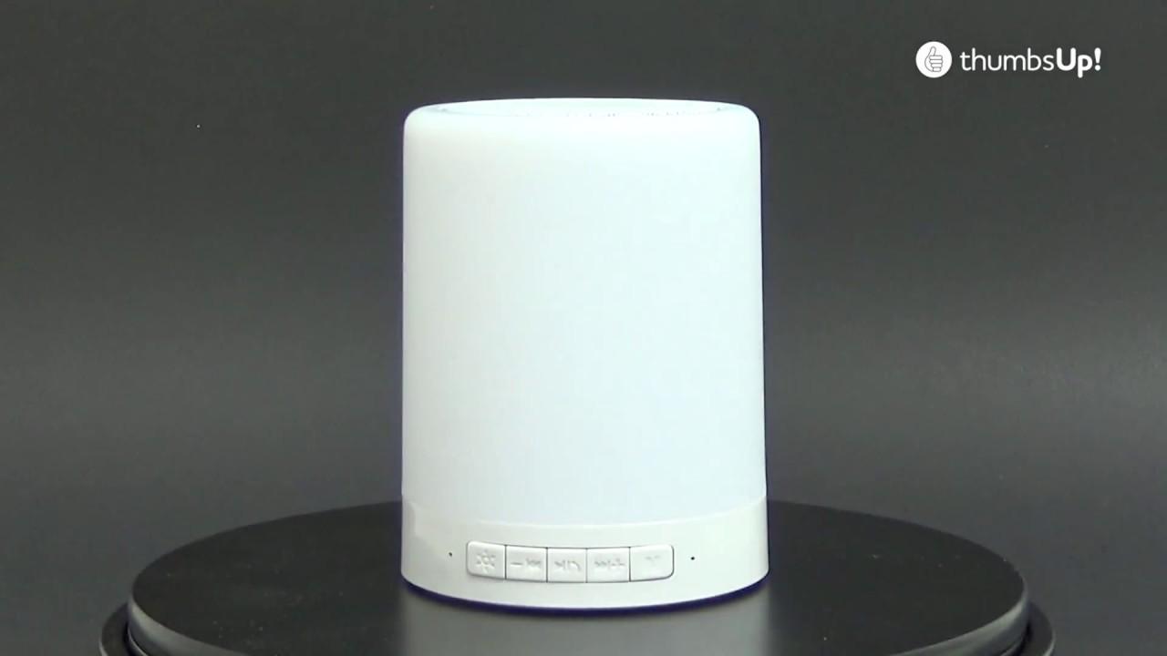 Thumbs Up Led Farbwechsel Lampe Mit Bluetooth Lautsprecher