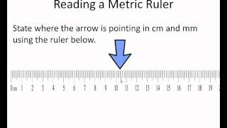 Reading a Metric Rulerwmv