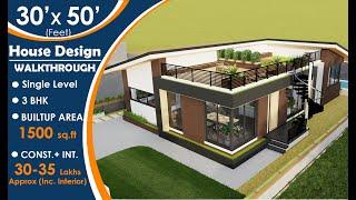 Weekend House Design   30x50  Feet    Modern Architecture   Exterior   ▶️ 3d Walkthrough   ⭐✨