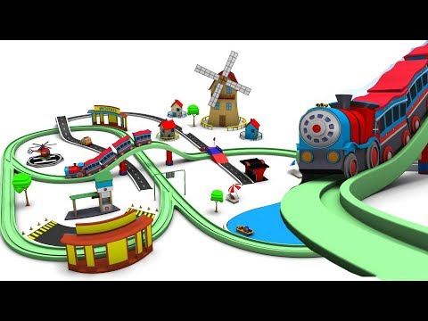 Toy Train Cartoon for Kids – Trains for children – Choo train cartoons – Toy Factory