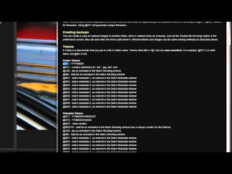 ControlMyNikon 5 - Files and Folders