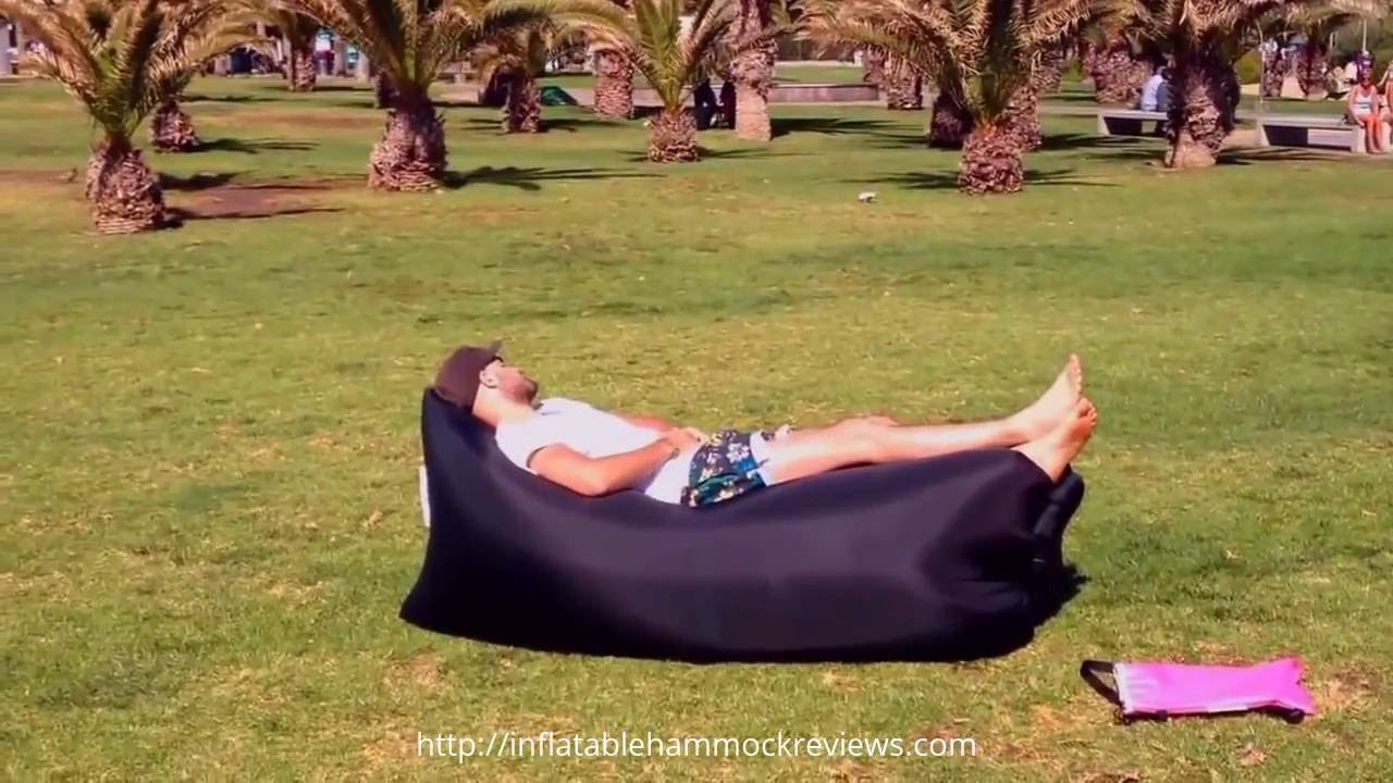 Inflatable Lounger   Inflatable Hammock How To Fill With Air Tips 2017    YouTube