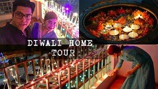 Indian Home tour & decorations for Diwali | Diwali vlog 2017 | Married Couple's Diwali celebrations