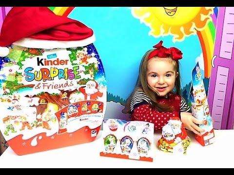 Открываем кучу Рождественских Киндеров Редкие игрушки Kinder Surprise - Christmas Special
